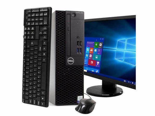 "Dell Optiplex 3050 Desktop PC, 3.2GHz Intel i5 Quad Core Gen 7, 16GB RAM, 1TB SATA HD, Windows 10 Professional 64 bit, 22"" Widescreen Screen (Renewed)"
