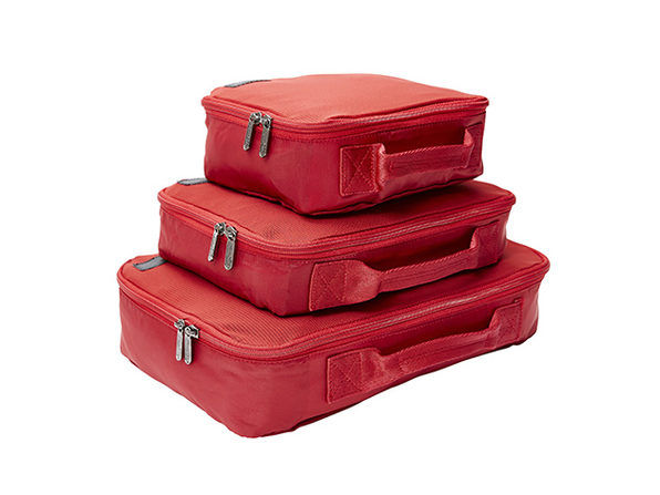 Genius Pack Compression Packing Cubes Set (Red)