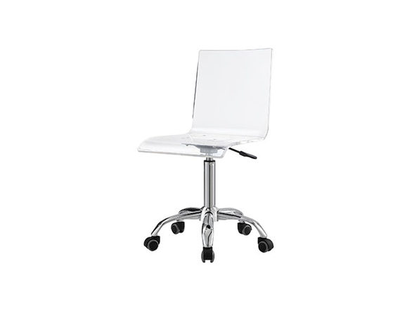 Casandra Clear Acrylic Task Chair (Chrome Frame)