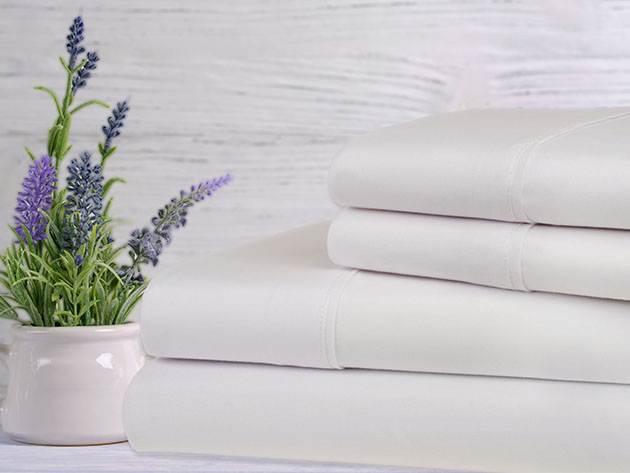 Bamboo 4-Piece Lavender Scented Sheet Set, on sale for $35.99 (40% off)