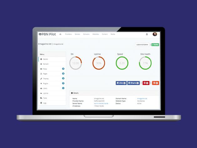 Stack Social Deal for PBN Pilot Lite Plan: Lifetime Subscription
