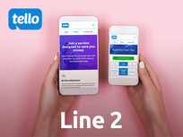 Line 2: Tello Value Prepaid 6-Month Plan: Unlimited Talk/Text + 2GB LTE Data - Product Image