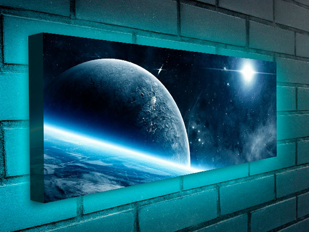 Add a Surreal & Ethereal Glow to Your Room with This Outer Space-Themed LED Backlit Wall Art