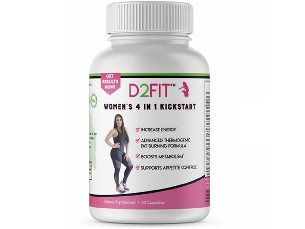 D2Fit Women's 4 in 1 Kickstart 60 Capsules Dietary Supplement