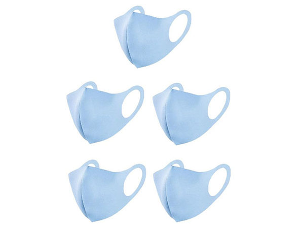 Polyester Face Masks 10-Pack Blue - Product Image