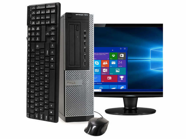 "Dell OptiPlex 7010 Desktop PC, 3.2 GHz Intel i5 Quad Core Gen 3, 8GB DDR3 RAM, 120GB SSD, Windows 10 Home 64 bit, 19"" Screen (Renewed)"