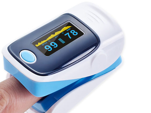 Fingertip Pulse Oximeter (Blue/2-Pack)