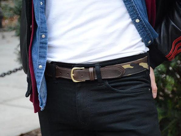 FH Wadsworth Leather Belt