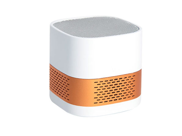 LUFT Cube Portable Filterless Air Purifier (White/Gold)