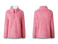 Half Zip Pullover-Pink Small - Product Image