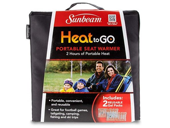 Sunbeam SSGP900-35 Heat to Go Portable Warming Stadium Seat, Black