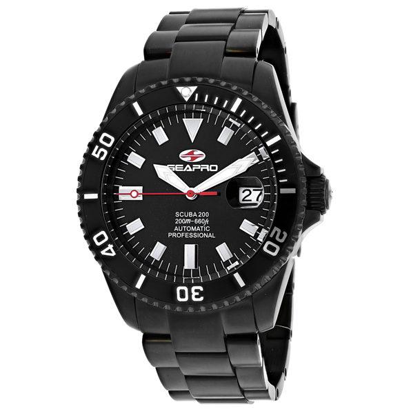 Seapro Men's Scuba 200 Black Dial Watch - SP4328