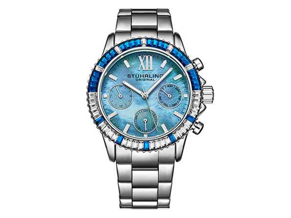 Coronia Quartz 39mm Women's Watch (Silver/Blue)