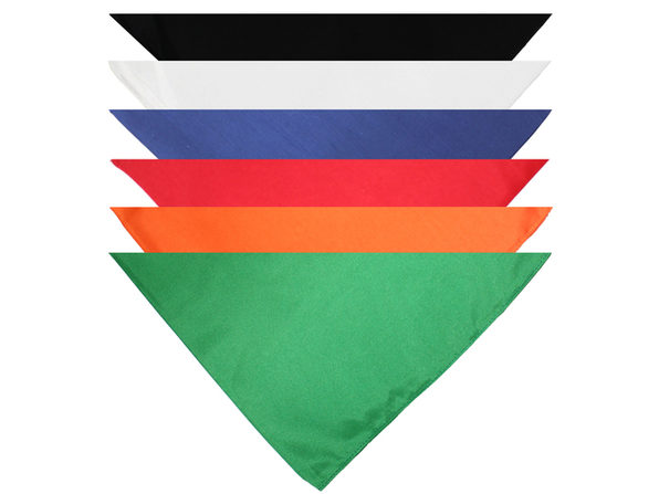 Qraftsy Triangle Solid Bandanas - 9 Pack - Kerchiefs and Head Scarf - Mix Colors