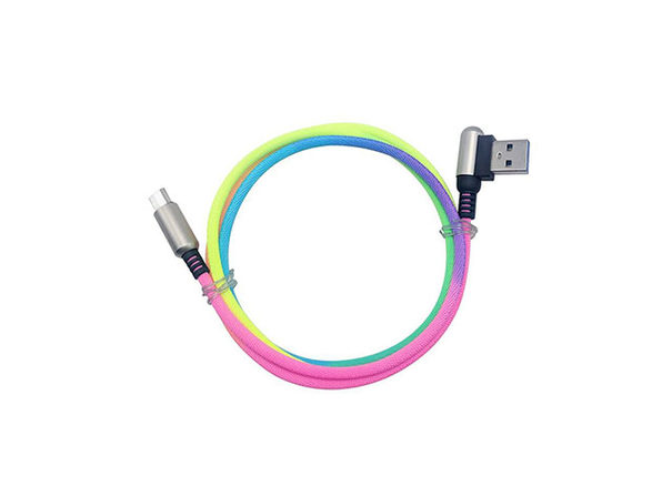 3.3' Rainbow Charging Cable: 2-Pack