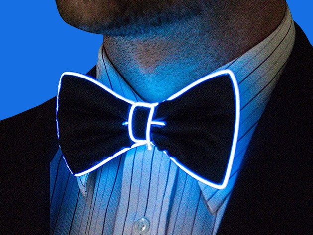 Light Up Bow Tie The Awesomer Shop