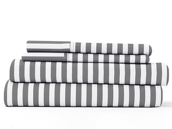 Home Collection Ultra Soft Ribbon Pattern 4-Piece Sheet Set