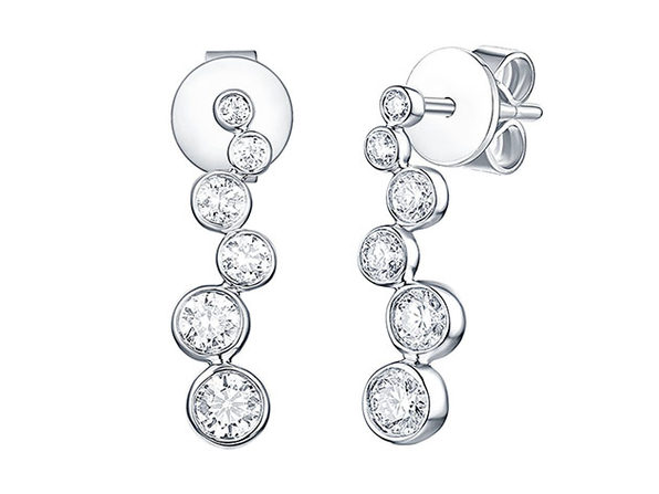 Bubbly 0.51CT Lab-Grown Diamond Earrings in 10K White Gold