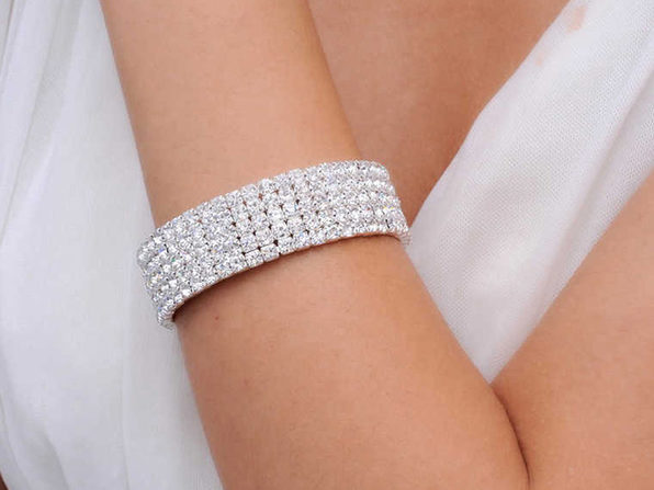 Sparkling SIlver Layer Crystal Tennis Bracelet