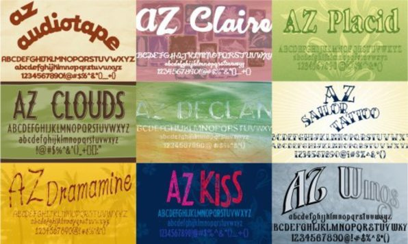 9 Premium Fonts From Andre Zottolo - Product Image
