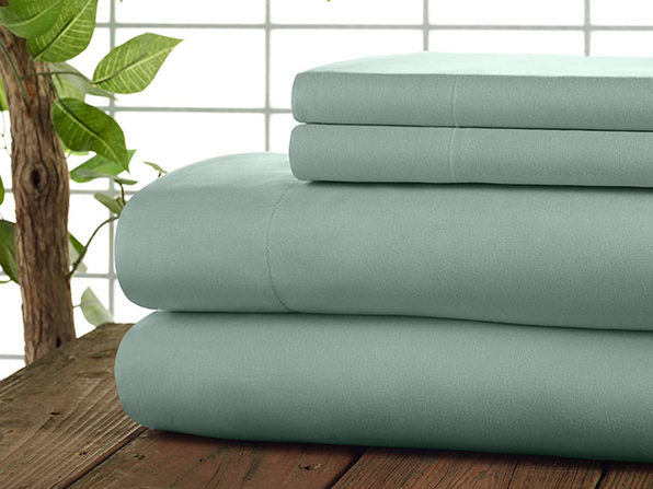 Kathy Ireland 4-Pc Coolmax Sheet Set - Queen - Aqua - Product Image