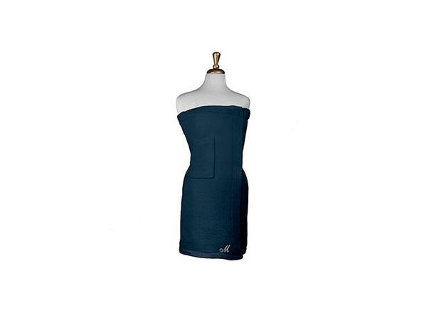 Parise Cotton Terry Bath Wrap Navy , 1 Piece - Product Image