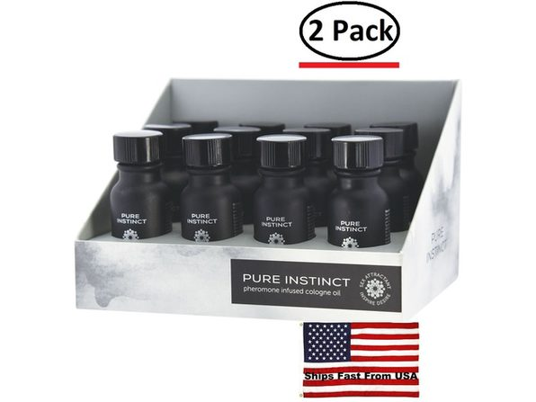 ( 2 Pack ) Pure Instinct Pheromone Cologne Oil for Him 12 Pc Display 15 ml - Product Image