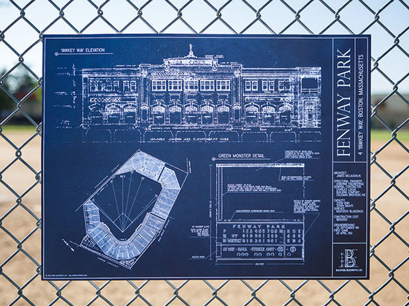 Unframed Ballpark Blueprints