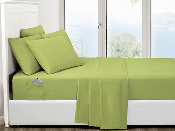 6-Piece Sage Ultra Soft Bed Sheet Set with Side Pockets