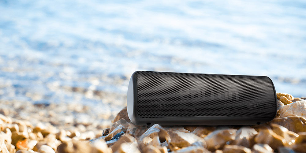 EarFun GO: 24-Hour Portable Waterproof Bluetooth Speaker, on sale for $33.96 when you use coupon code PREZ2021 at checkout