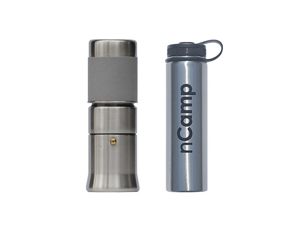 Complete Your Camping Setup with a Café Espresso Brewer, Water Bottle & 4-Pack of Cups