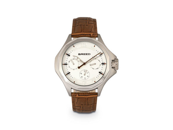 Breed Tempe Leather-Band Watch