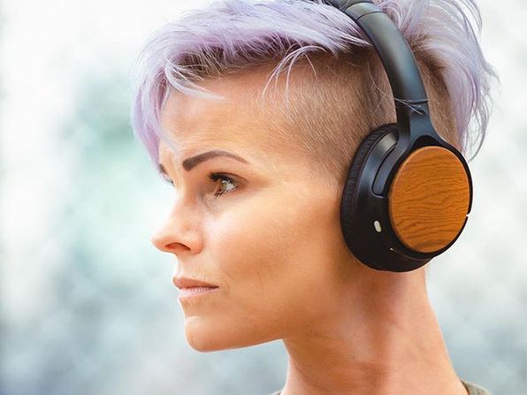 EVEN H4 Wireless Headphones with EarPrint Technology (Wood Grain Finish)