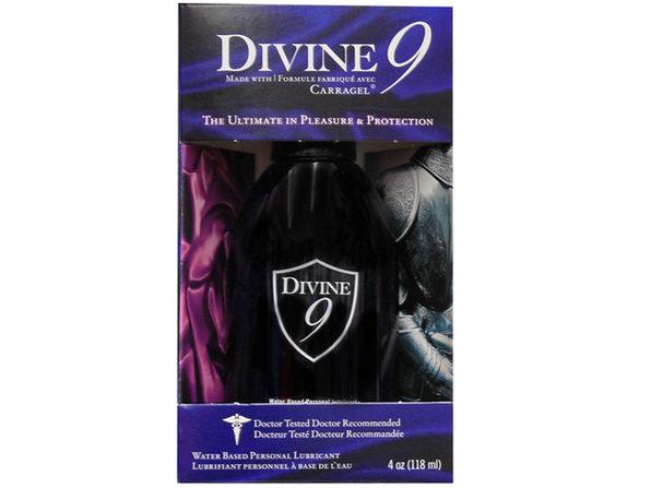 Divine 9 Waterbased Lubricant 4oz. ---(Package Of 4)