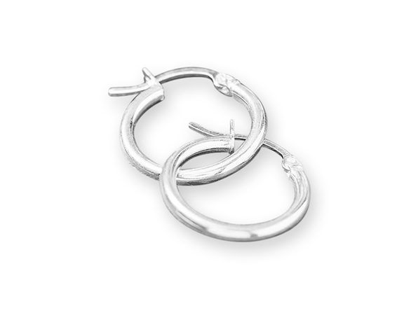 Sterling Silver Slim Hoop Earrings