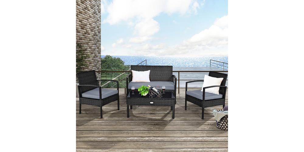 Costway 8-Piece Rattan Garden Furniture Set