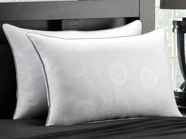 MicronOne Allergen-Free Gel Fiber All-Sleeper Pillows: 2-Pack (Queen)